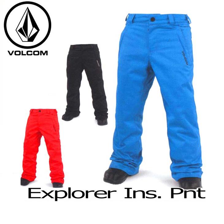 VOLCOM ボルコム スノー ボード キッズ ウェア 【16-17 モデル】 パンツ スノーボード 【 Explorer Ins Pnt/Pant 】 日本正規品 【返品種別OUTLET】