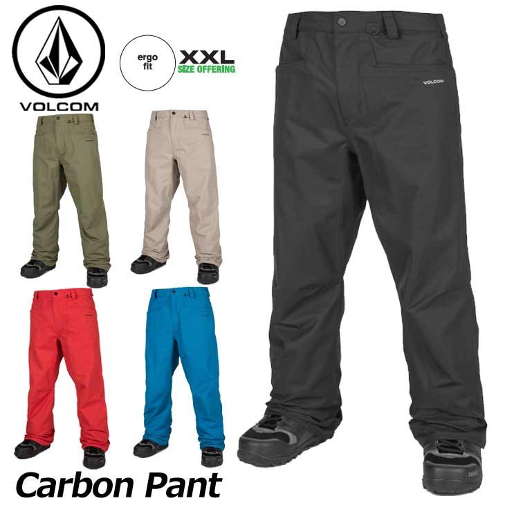 18-19 VOLCOM ボルコム スノーウェア メンズ スノーボード パンツ 【Carbon Pant 】G1351915 ship1【返品種別OUTLET】【返品種別OUTLET】