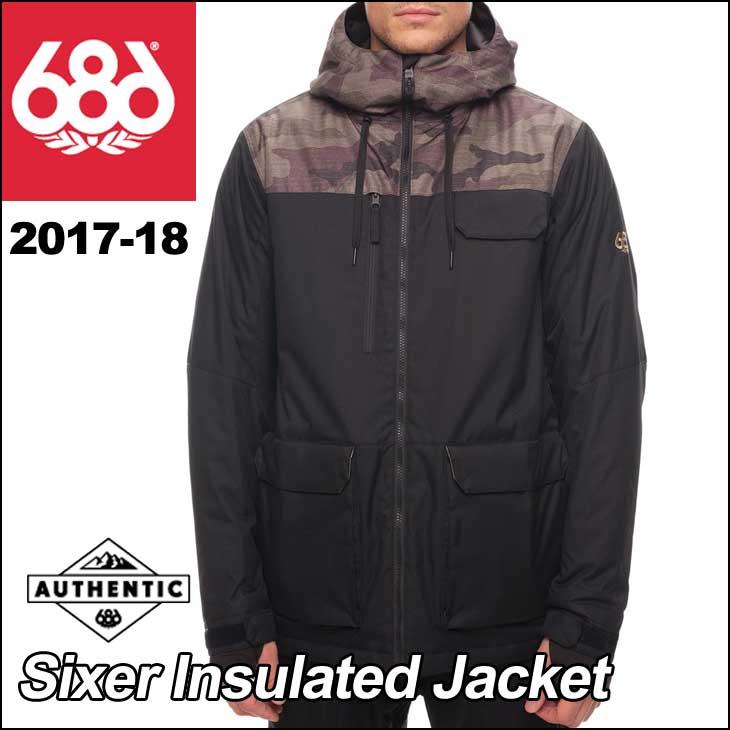 17-18 686 SIX EIGHT SIX (シックスエイトシックス ) メンズ スノーボード ウエア 【Sixer Insulated Jacket 】ジャケット ウェア 日本正規品