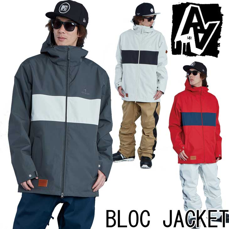 19-20 AA ダブルエー メンズ ウェアー 【BLOC JACKET 】ブロック ジャケット スノーボード SNOW WEAR  ship1【返品種別OUTLET】