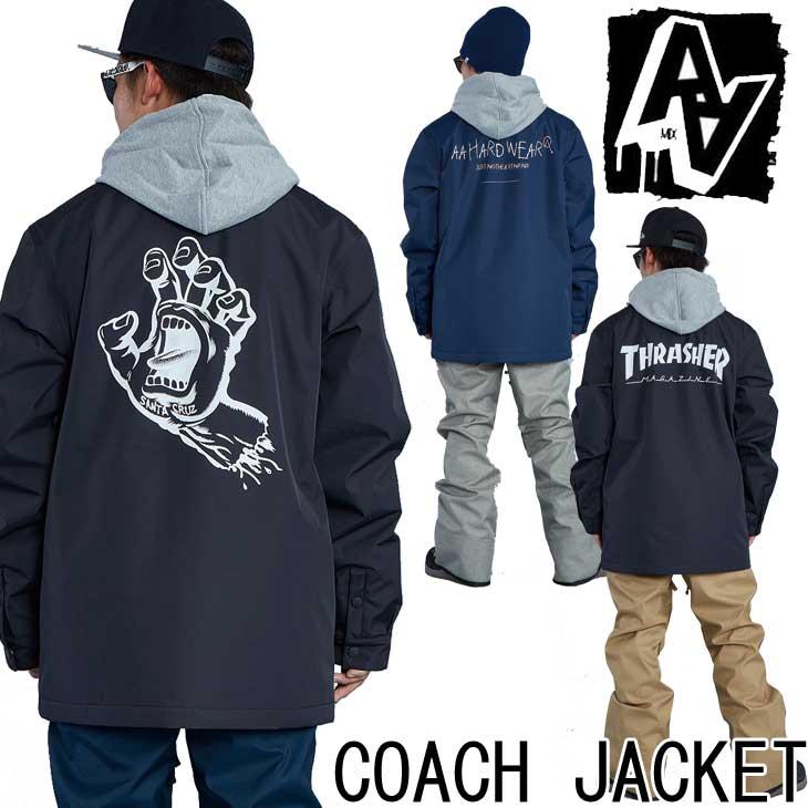 19-20 AA ダブルエー メンズ ウェアー 【COACH JACKET 】コーチジャケット スノーボード SNOW WEAR 入荷済み ship1
