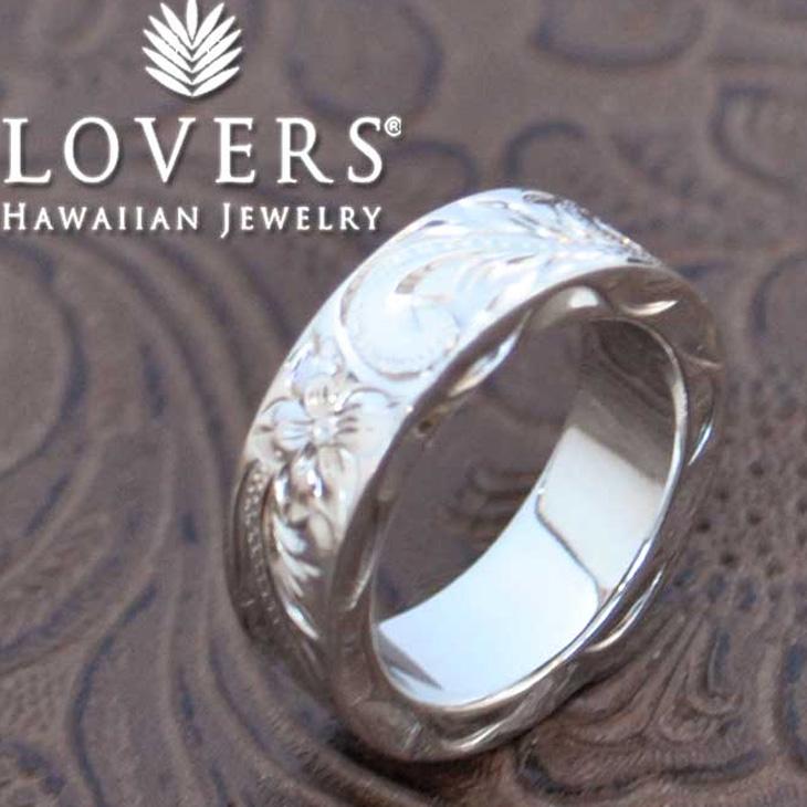 ※訳ありアイテム ハワイアンジュエリー LOVERS ラヴァーズ  ペアリング 8mm 指輪 シルバー素材