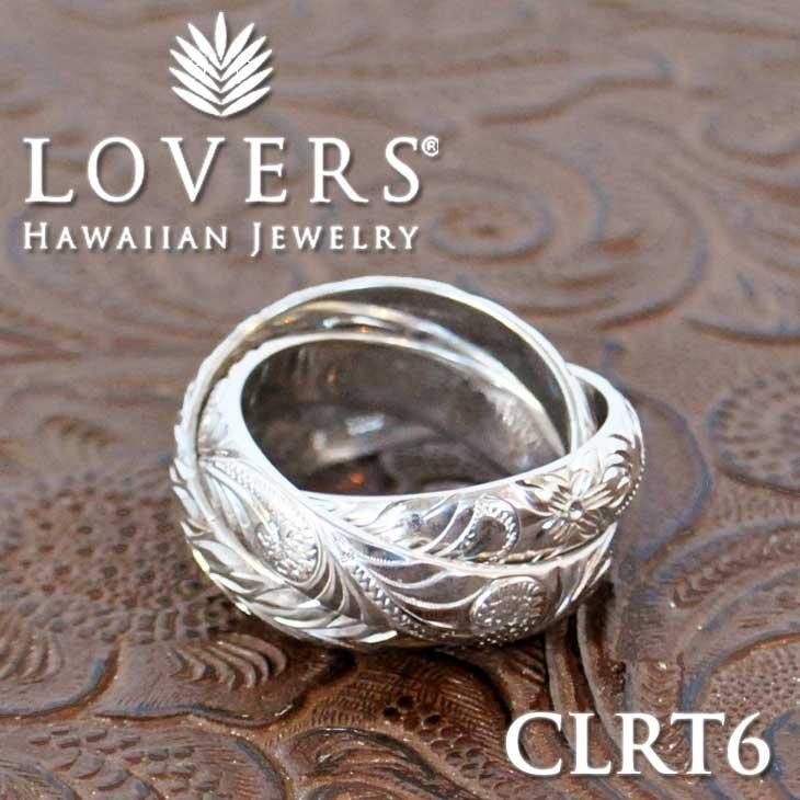※訳ありアイテム ハワイアンジュエリー LOVERS ラヴァーズ トリプルリング 6mm 【CLRT6】 アクセサリー指輪 シルバー素材 ship1