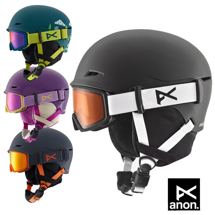 18-19 ANON アノン キッズ ゴーグル一体型ヘルメット Kids' Anon Define ship1