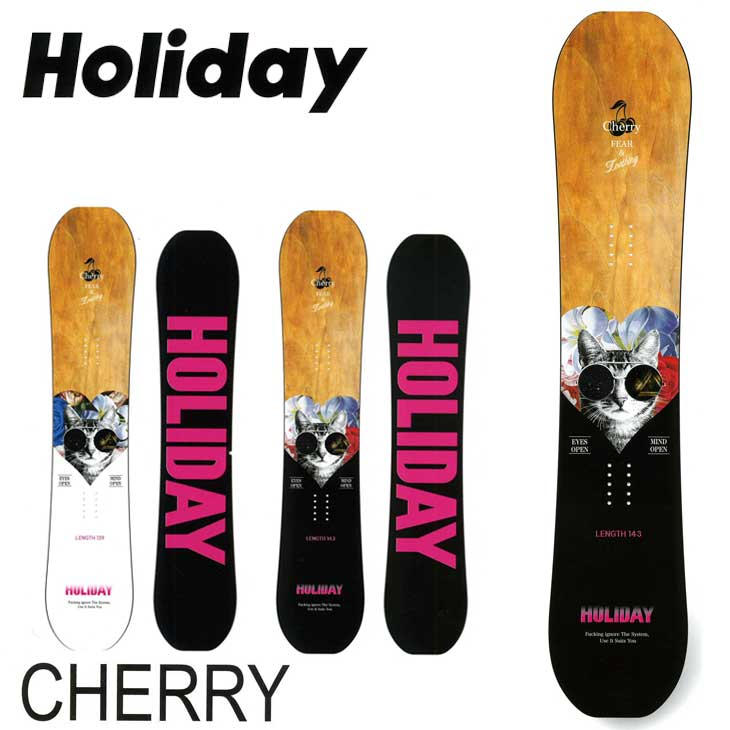 18-19 HOLIDAY ホリデー CHERRY チェリー レディース ホリデイ SNOWBOARD スノーボード 板 【返品種別OUTLET】【返品種別OUTLET】