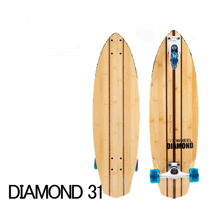 TRY WHEEL(トライウィール)サーフスケート スケボーコンプリート 【DIAMOND-31inch】【送料無料】正規品