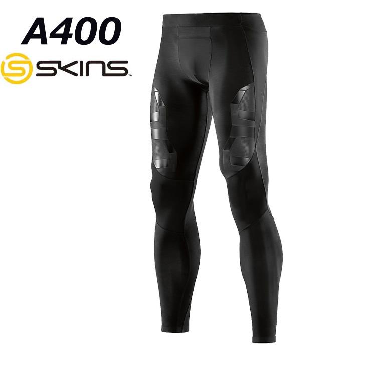 skins a400 メンズロングタイツ 【正規品】ZB9932001(BKOB)ブラック/オブリーク スキンズ コンプレッション インナー 【返品種別OUTLET】