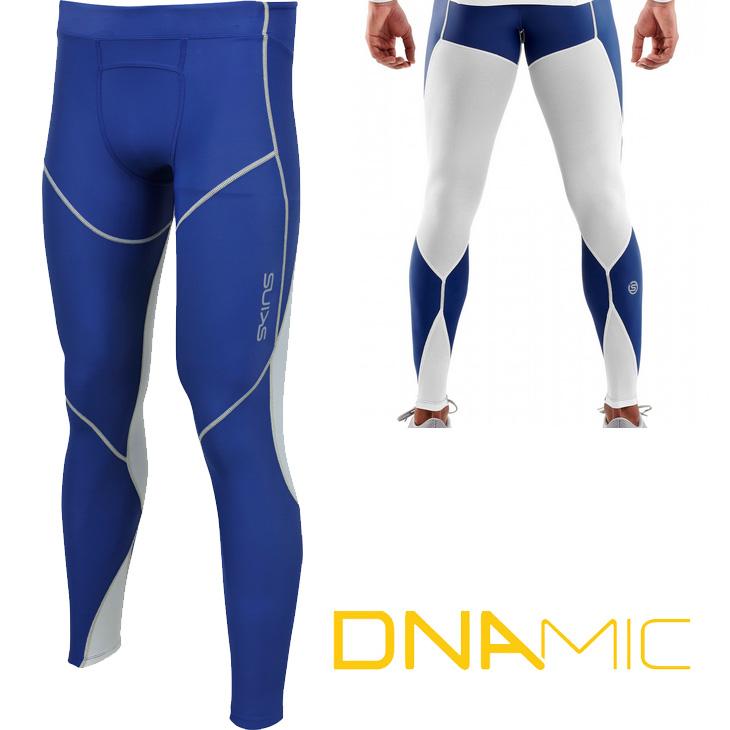 スキンズ skins DNAmic ディーエヌエーミック ULTIMATE メンズクールロングタイツ (WHZP White/Zephyr)D8860105S 夏用 【正規品】