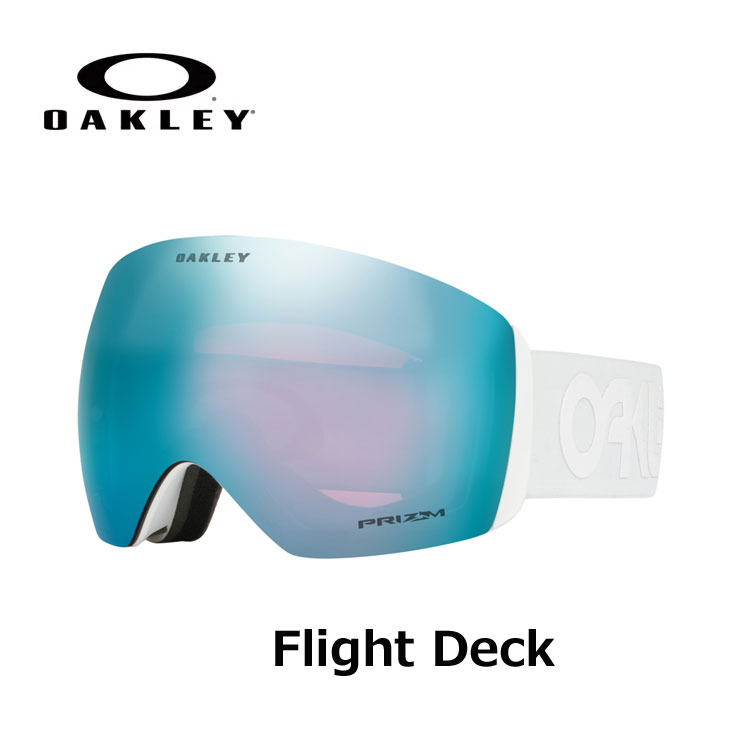18-19 OAKLEY オークレー スノーゴーグル Flight Deck Factory Pilot Whitout (Asia Fit) プリズムレンズ ship1【返品種別OUTLET】
