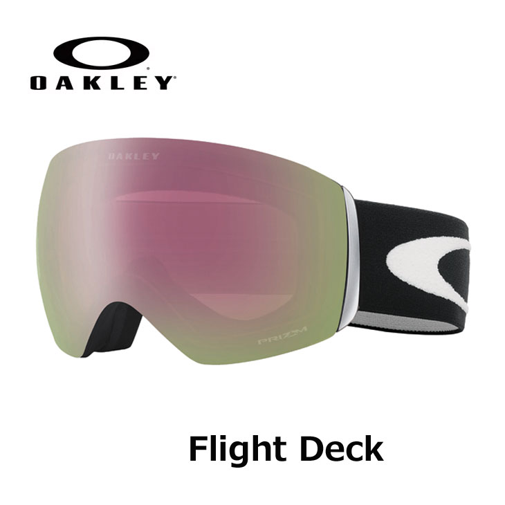 18-19 OAKLEY オークレー スノーゴーグル Flight Deck matte black_Prizm HiPink iridium (Asia Fit)プリズムレンズ ship1【返品種別OUTLET】
