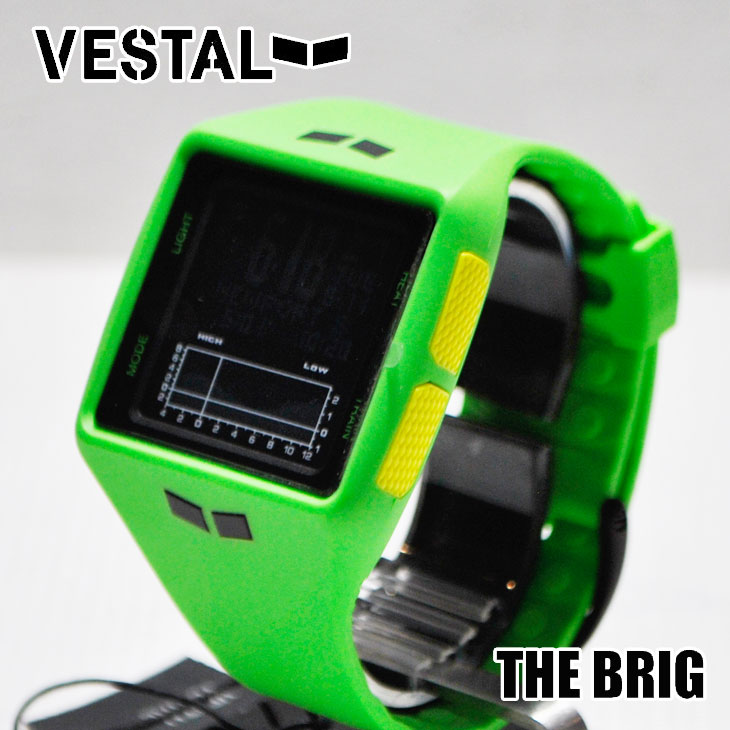VESTAL ベスタル WATCH 腕時計 【THE BRIG 】【BRG022】Green/Black/Negative タイド表 ship1【返品種別OUTLET】
