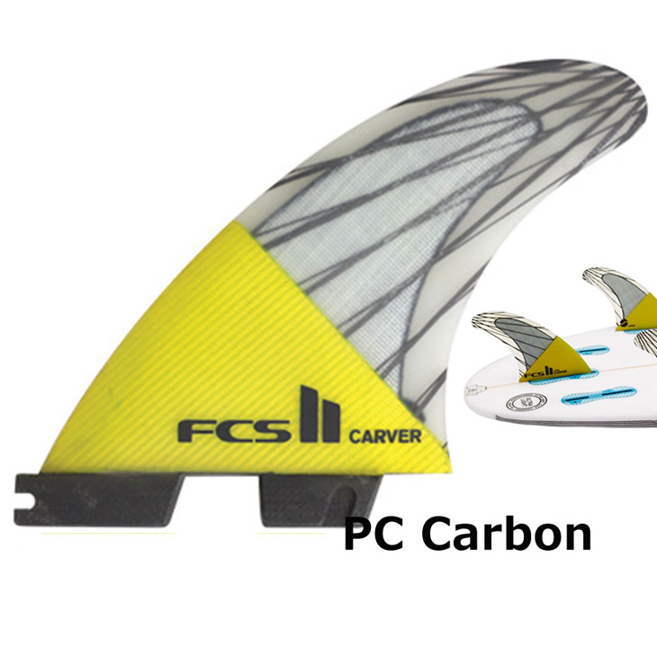 fcs2 フィン エフシーエス2 フィン Newデザイン【CARVER PC Carbon Tri Set 】(PCカーボン )正規品