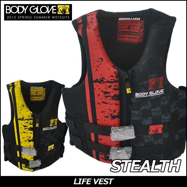 BODYGLOVE (身体手套) 背心唤醒滑水最佳 PFD 救生衣隐身
