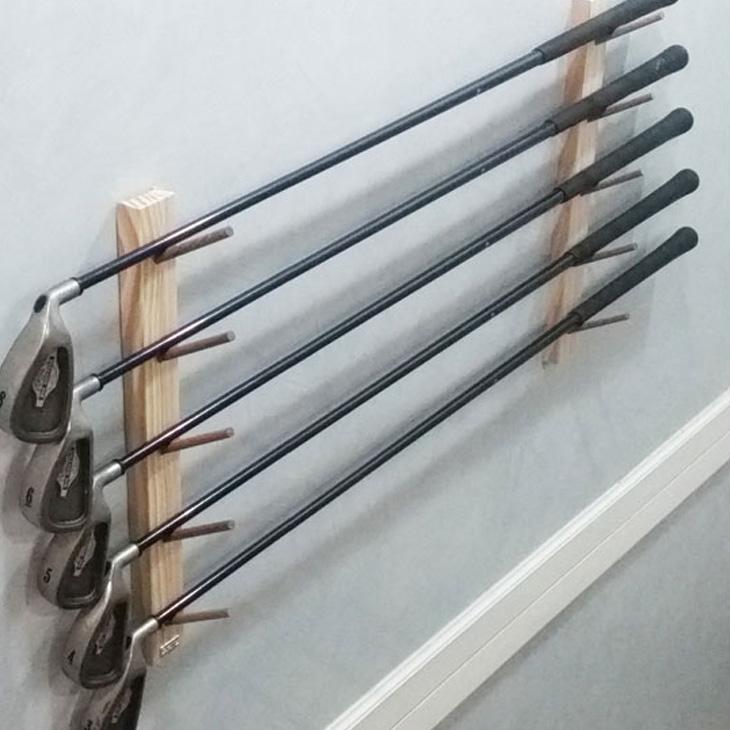 壁掛け ロッドラック Easy Rack for Rod モダンスタイル 5本掛け 釣り竿 ゴルフ Aqua Rideo アクアリデオ イージーラック 壁美人 【お取り寄せ商品】
