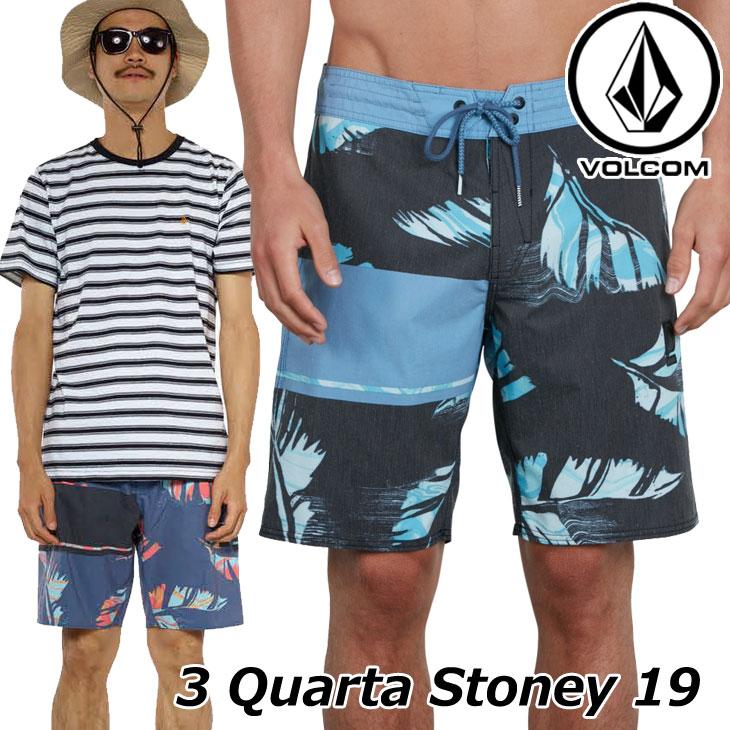 Volcom Mens 3 Quarta Stoney 19 Stretchy Boardshort