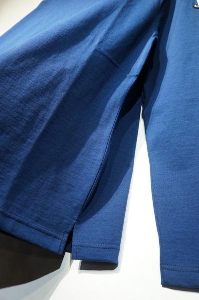 Le minorJAPAN CUSTOMJAUGE 20 LONG SLEEVE WITH SIDE SLITNAVYルミノア 日本別注 バスクシャツ ライトオンス サイドスリット ネイビーnPk8w0OX