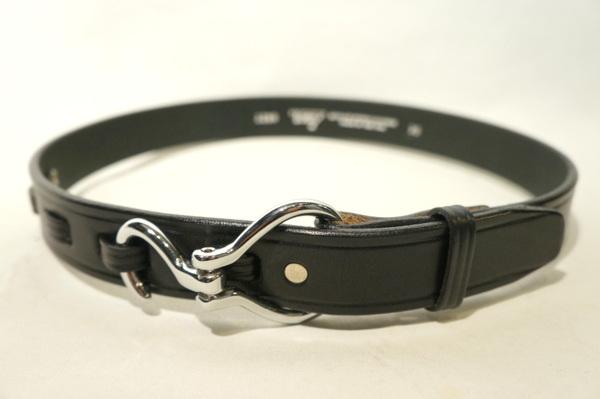 【TORY LEATHER】 HOOK BELT BUCKLE SILVER -BLACK- TL71260 トリーレザー フックベルト シルバー バックル ブラック