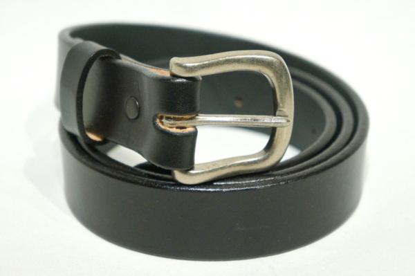 TORY LEATHER SILVER BUCKLE BELT-BLACK- TRL2145 トリーレザー ベルト バックル シルバー 『4年保証』 アメリカ製 ブラック 再再販 レザー