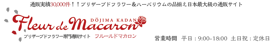 Fleur de macaron:販売実績30000個 プリザーブドフラワー専門店