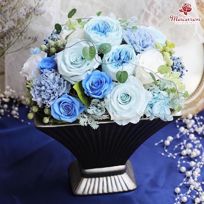 《Blue Heaven》 ブルーヘブン プレゼント ギフト 誕生日 送別 退職 長寿のお祝い 父の日 母の日 開店 結婚祝い 結婚記念日 退職祝い 新築祝い 出産お祝い 敬老の日 プリザーブドフラワー ブリザードフラワー ブリザーブドフラワー 企業様