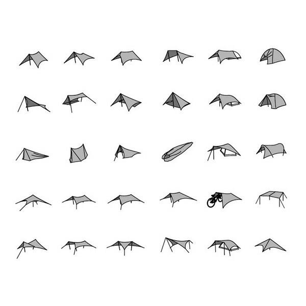 【PaaGo WORKS】Ninja Tarp パーゴ ワークス ニンジャ タープ [Dark Gray][CT801-DGR]