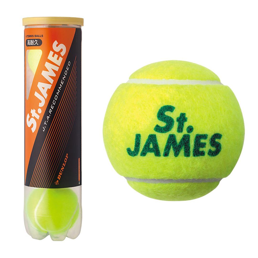 練習球 毎日続々入荷 送料込み DUNLOP 新品未使用 St.JAMES 4球×15缶入 硬式テニスボール 2箱