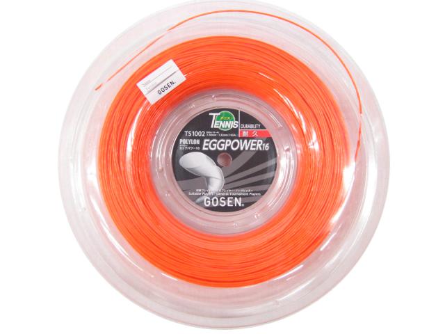 【お買得!!送料込】 POLYLON EGGPOWER 16 TS1002-OR 【GOSEN硬式テニス ロールガット】1.30-1.32mm