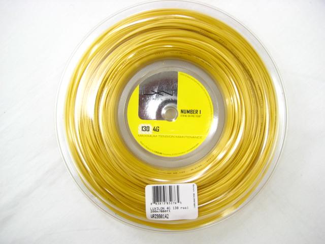 ルキシロン 4G 125 (200M)【LUXILON硬式テニス ロールガット】WRZ990141