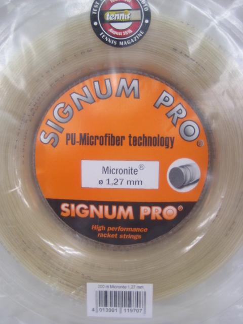 ☆お買得品☆マイクロナイト Micronite 1.27 (200m)【SIGNUM PRO硬式テニス ロールガット】