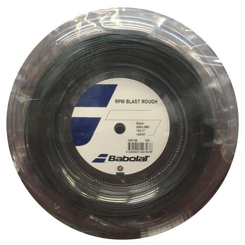 ★サービスガットプレゼント企画★ポリガット2種!!BABOLAT RPM BLAST ROUGH / RPMブラストラフ(ロールタイプ)【BABOLAT硬式テニスガット ロール】BA243136(R)-BLK
