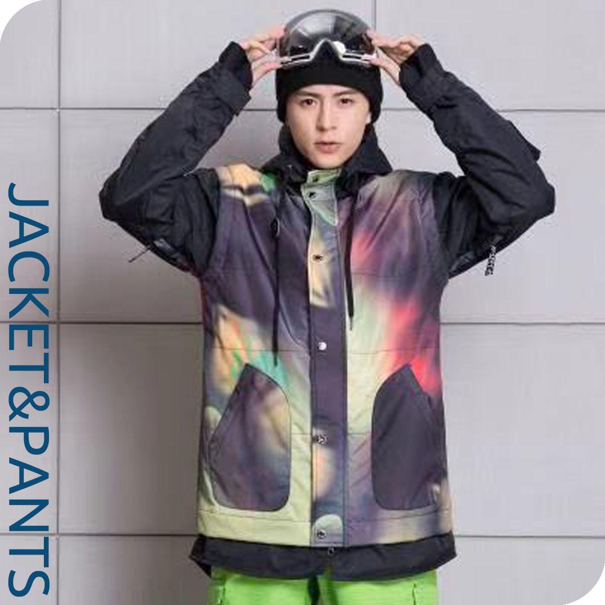 スノーボードウェア スキーウエア 上下セット メンズ 男性用 スノボ ウェア- スノーウェア デニムパンツ(パンツサイズも選べる上下セット)