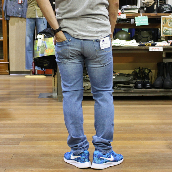 f9c9faca ... Domestic stretch denim jeans jeans men light color blue LM0813-156  hemming for free made ...