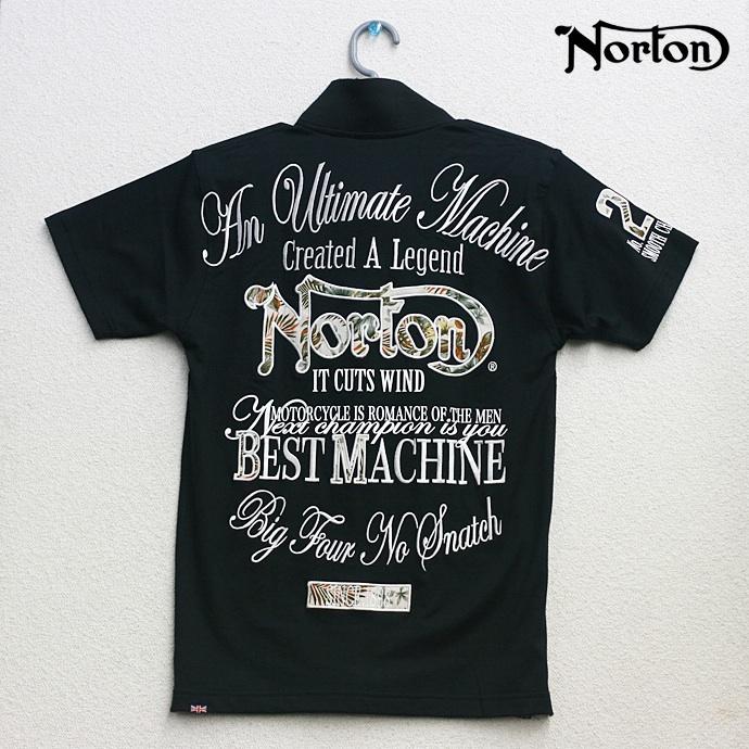 Norton(ノートン)リゾート ポロシャツ 半袖 ブラック 62N1903