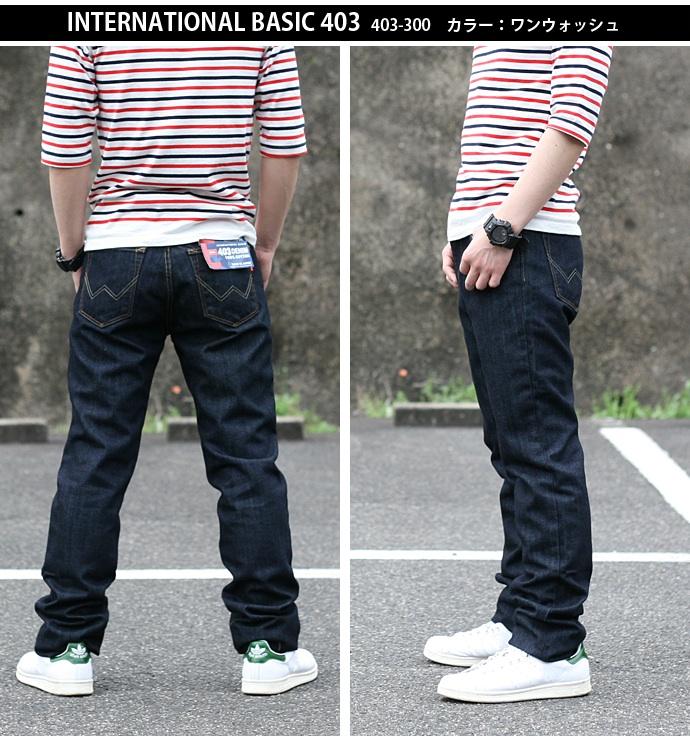 范德萨 (Edwin) 国际基本 403 通常直上升加深日本国产的斜纹粗棉布牛仔裤