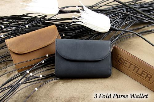 セトラー 3つ折り財布 SETTLER 3FoldPurseWallet OW-1112ホワイトハウスコックスのデフュージョンブランド〔FL〕