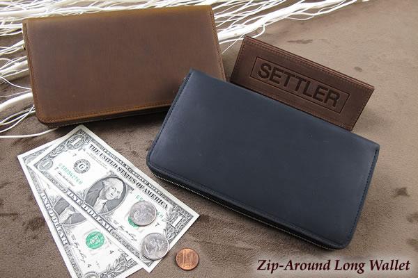 セトラー ジップ式長財布/クラッチパース SETTLER Zip-AroundLongWallet OW-1760ホワイトハウスコックスのデフュージョンブランド〔FL〕