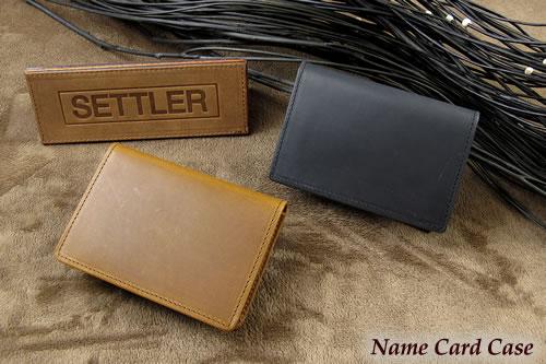 セトラー 名刺入れ SETTLER NamecardCase OW-7412ホワイトハウスコックスのデフュージョンブランド〔FL〕