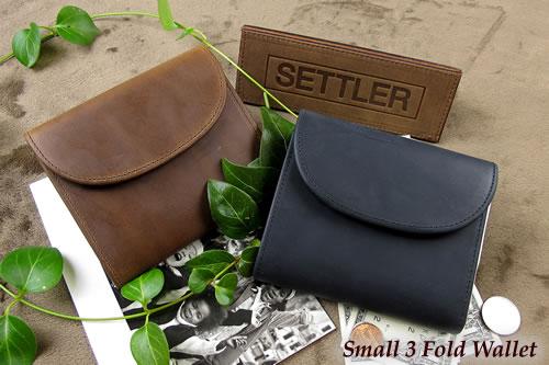 セトラー 3つ折り財布 SETTLER Small3FoldWallet OW-1058ホワイトハウスコックスのデフュージョンブランド〔FL〕