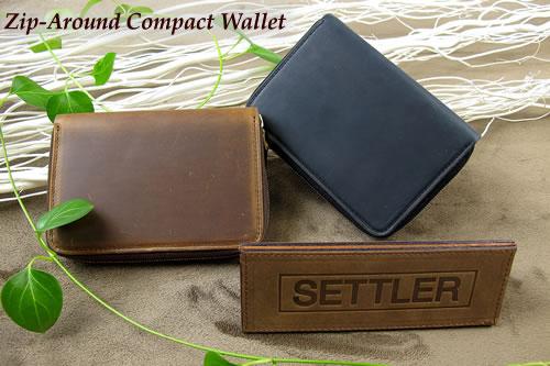 セトラー ジップ式2つ折り財布 SETTLER Zip-AroundCompactWallet OW-2534ホワイトハウスコックスのデフュージョンブランド〔FL〕