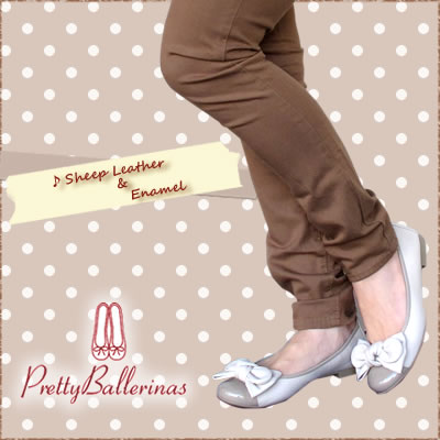 【S】Pretty Ballerinas SHIRLEY combi patento leather ribbon ウェッジソール〔SK〕[41724/7001]SHADE【コンビニ受取対応商品】