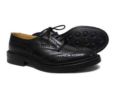 トリッカーズ バートン ウィングチップ カントリー ダイナイトソール Tricker's BOURTON M5633 <ブラック ><日本正規代理店>短靴 ローカット〔FL〕【送料無料】