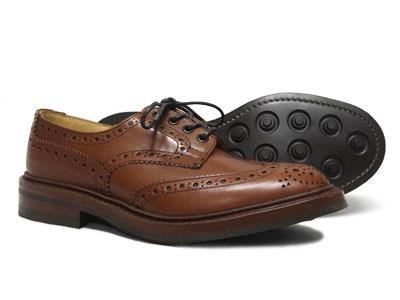 トリッカーズ バートン ウィングチップ カントリー ダイナイトソール Tricker's BOURTON M5633 <マロン・アンティーク>ブラウン<日本正規代理店規格モデル>短靴 ローカット〔FL〕【送料無料】