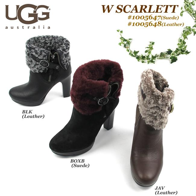 【SALE品交換・返品不可】アグ ブーツ レディースUGG AUSTRALIA SCARLETT スカーレット1005647(Suede)/1005648(Leather) 〔SK〕【コンビニ受取対応商品】