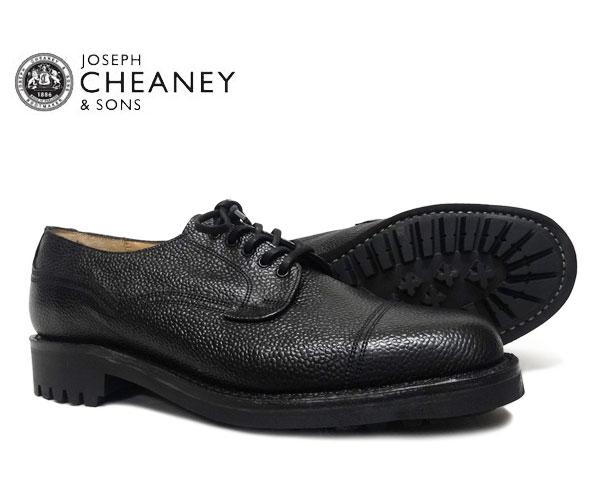 JOSEPH CHEANEY ジョセフ チーニー CAIRNGORM ケンゴン BLACK GRAIN 5793/66 プレーントゥ シューズ ブラック ジボ革 *メンズ〔FL〕【あす楽】【collonil-shoetree】