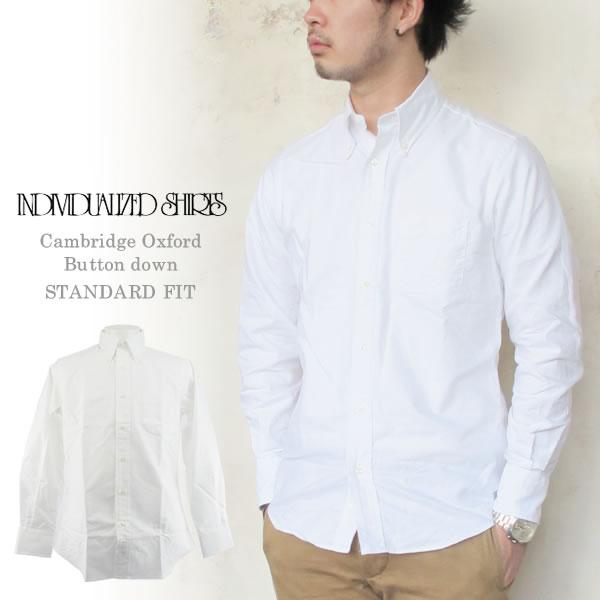 Individualized Shirts CAMBRIDGEOXFORD STANDARD FIT  WHITEインディビジュアライズドシャツ ケンブリッジオックスフォード ボタンダウン BD ホワイト メンズ〔FL〕