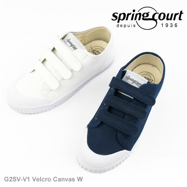 スプリングコート スニーカー レディース Springcourt G2SV-V1 Velcro Canvasベロクロ ローカット キャンバス〔SK〕【あす楽】