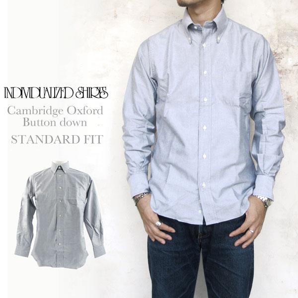 Individualized Shirts CAMBRIDGEOXFORD STANDARD FIT GREY インディビジュアライズドシャツ ケンブリッジオックスフォード グレー グレイ スタンダードフィット ボタンダウン メンズ〔FL〕】