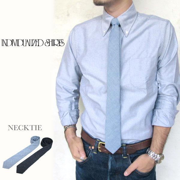 Individualized Shirts ネクタイ インディビジュアライズドシャツ NECKTIE ヘリテージシャンブレー ヴィンテージデニム  メンズ〔FL〕】