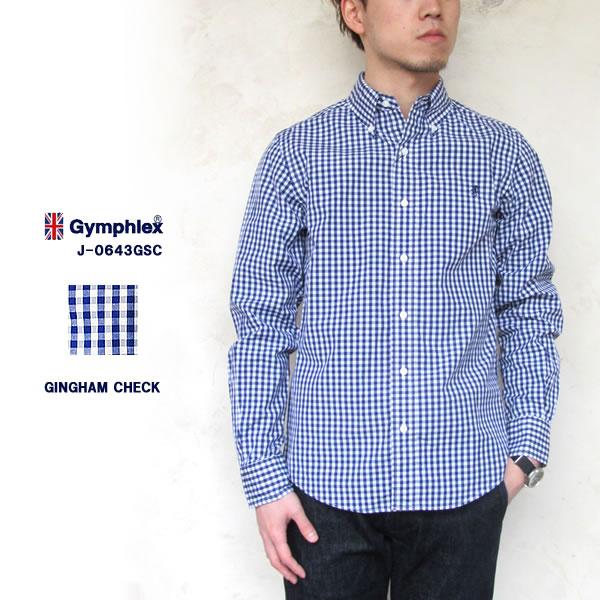 Gymphlex ジムフレックスボタンダウンシャツ J-0643GSC メンズ〔TB〕【あす楽対応】