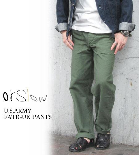 オアスロウ orslow メンズ ファティーグパンツ US ARMY FATIGUE PANTS ベイカーパンツ 日本製〔FL〕【あす楽対応】